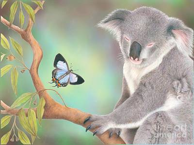 Koala Digital Art - A Kiss For Koala by Karen Hull