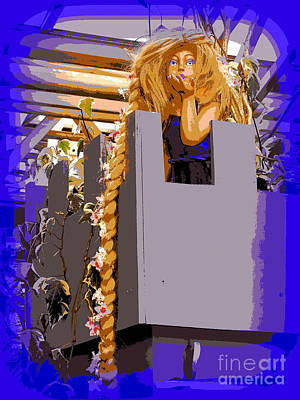 Digital Art - A Kiss From Rapunzel by Ed Weidman