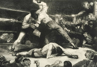 Bellows Relief - A Knock-out by George Bellows