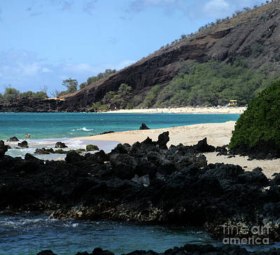 Ourjrny Photograph - A L O H A  E Ala E Puu Olai Oneloa Big Beach Makena Maui Hawaii by Sharon Mau