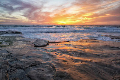Photograph - A La Jolla Sunset #2 by Joseph S Giacalone