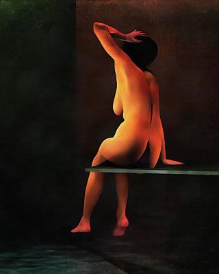 Painting - A La Piscine by Jan Keteleer