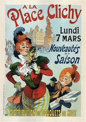 Mixed Media - A La Place Clichy - Nouveaute's De La Saison - Vintage French Advertising Poster by Studio Grafiikka