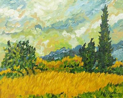 Painting - A La Van Gogh by Diane Arlitt