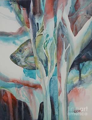 Painting - A L'abris by Donna Acheson-Juillet