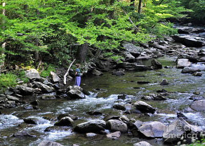 Photograph - A Lady And The River by Lydia Holly