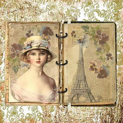 Mixed Media - A Lady In Paris by Joy of Life Art Gallery