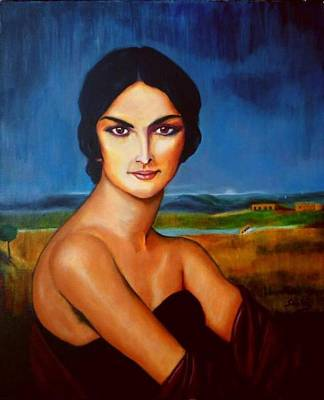 Painting - A Lady by Manuel Sanchez