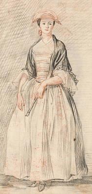 A Lady With A Fan Art Print