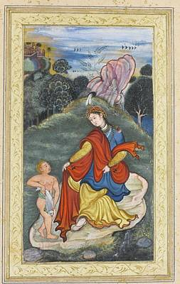 Landscape Painting - A Lady With The Young Tobias In A Landscape by Eastern Accent