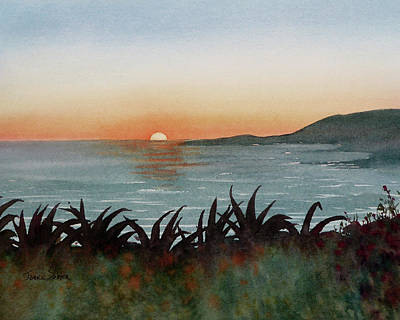 Laguna Beach Painting - A Laguna Beach Sunset by Janice Sobien