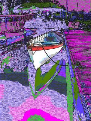 Rowboat Digital Art - A Lakeside Wonderful by Tim Allen
