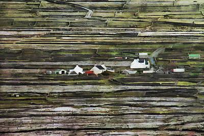 Photograph - A Landscape With A Farm by Aleksander Rotner