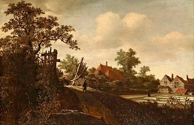 Path Painting - A Landscape With A Figure  by Roelof Jansz