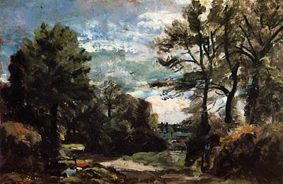 Painting - A Lane Near Flatford 1811 by Constable John