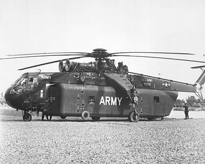 Sikorsky Photograph - A Large Ch-54 Skycrane Helicopter Used by Stocktrek Images