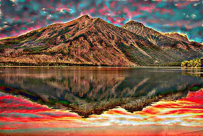 Photograph - A Large Mountain Reflection. by Rusty R Smith