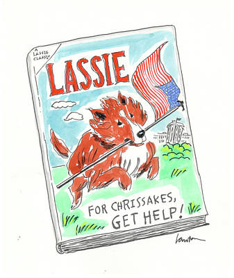 Flag Drawing - A Lassie Classic by Mary Lawton