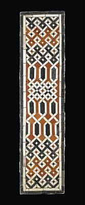 15th Century Painting - A Late Mamluk Or Early Ottoman Geometric Marble Mosaic Panel by Eastern Accents