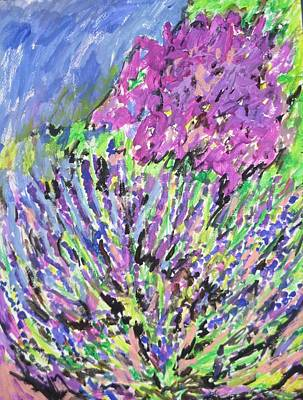 Painting - A Lavender Floral by Esther Newman-Cohen