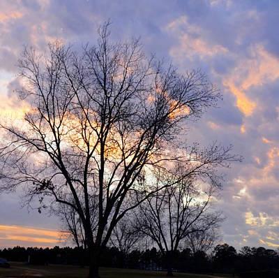 Photograph - A Lavender Sunset Sky by Carla Parris