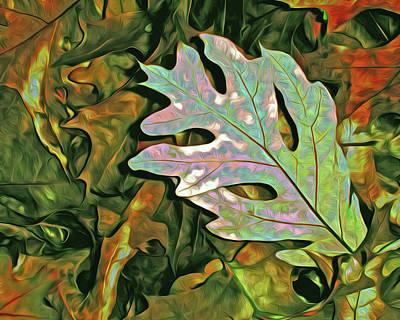 Mixed Media - A Leaf On The Pile by Lynda Lehmann