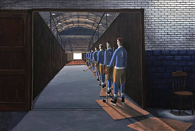 Painting - A League Is Born by Dave Rheaume
