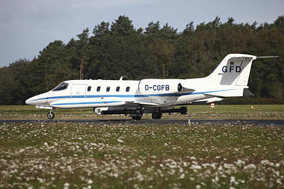 A Learjet Of Gfd With Electronic Art Print by Timm Ziegenthaler