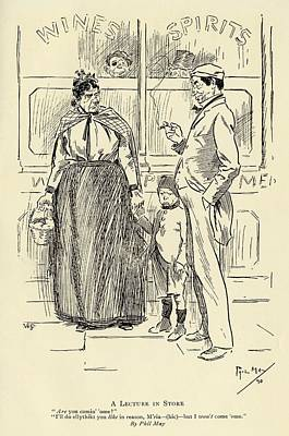 Phils Drawing - A Lecture In Store By Phil May 1864 To by Vintage Design Pics