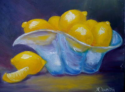 Painting - A Lemon Slice by Marie Hamby