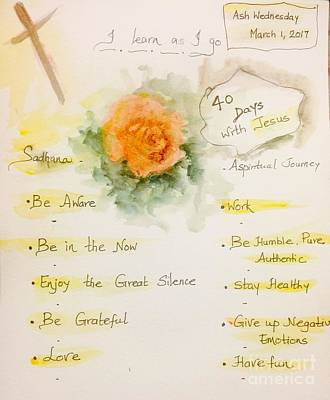 Painting - A Lenten Journey by Trilby Cole