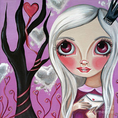 A Letter From My Valentine Art Print by Jaz Higgins
