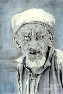 Character Portraits Painting - A Life Time by Enzie Shahmiri