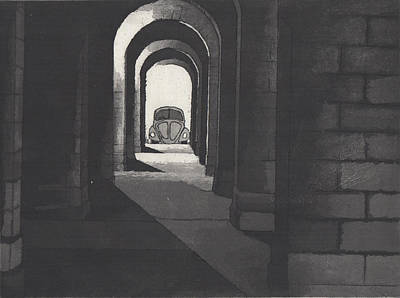 Drawing - A Light At The End Of The Tunnel  by Erik Paul