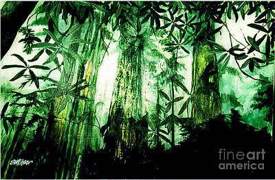 Painting - A Light In The Forest by Seth Weaver