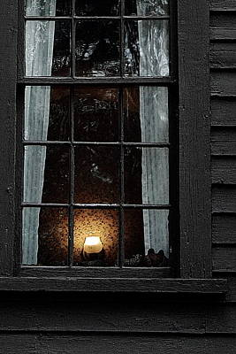A Light In The Window  Art Print