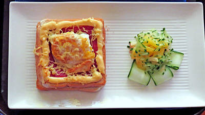 Mango Digital Art - A Light Pretty Breakfast by Kay Novy