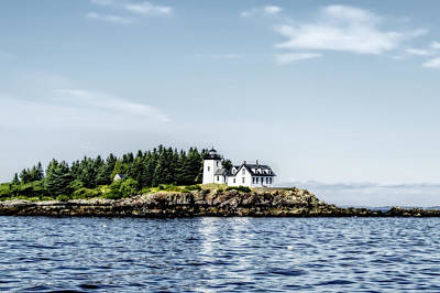 Photograph - A Lighthouse On The Coast Of Maine by Kay Brewer