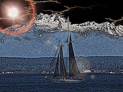Sound Digital Art - A Lightshow To Remember by Tim Allen