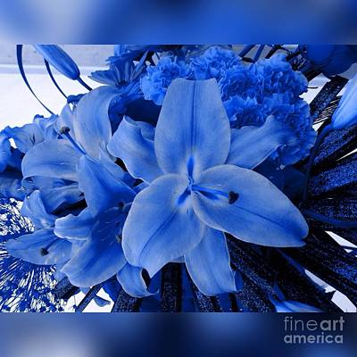 Photograph - A Lily Bouquet In Blue by Joan-Violet Stretch