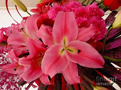 Photograph - A Lily Bouquet by Joan-Violet Stretch
