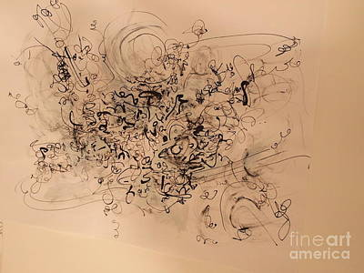 Calligraphic Drawing - A Line Dance by Nancy Kane Chapman