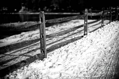 Photograph - A Line Of Snow by John Rizzuto