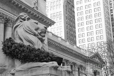 Bryant Park And Public Library Photograph - A Lion In The City by Victory Designs
