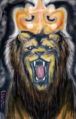 Painting - A Lion's Royalty by Robert Watson