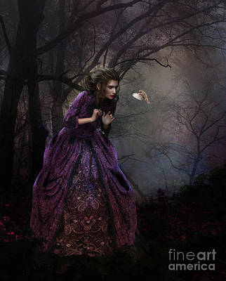 Fantasy Digital Art - A Little Bird Told Me by Shanina Conway