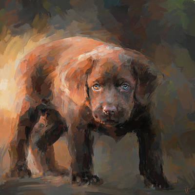Painting - A Little Bit Of Chocolate Lab by Jai Johnson