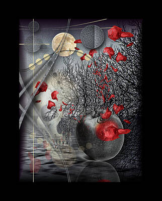 Subconscious Digital Art - A Little Bit Of Death Between The Worlds by Mimulux patricia no No