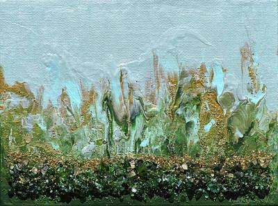 Mixed Media - A Little Bit Of Golden Rain by Donna Blackhall