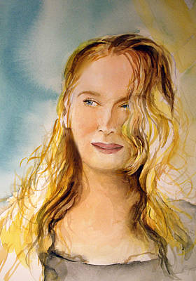Art Print featuring the painting A Little Bit Of Meryl by Allison Ashton